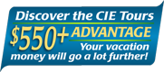CIE Escorted Tours 550+ Advantage