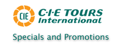 CIE Tours - Specials and Promotions
