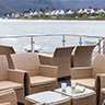 Avalon Waterways Tranquility II river cruise ship - sit under the awnings, or sun yourself on the skydeck