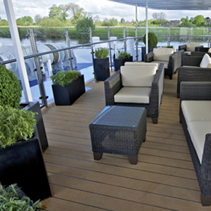 Avalon Visionary river cruise ship - outdoor seating area