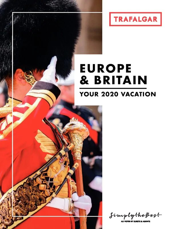 Trafalgar Tours - Europe with England - Discounts